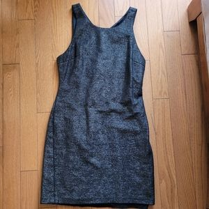 Halston Heritage Metallic Mini Sheath Dress (4)